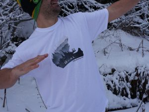 """Мъжка тениска """"Beneath The Helmet"""" – 100% памук, бяла"""