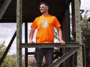 """Мъжка тениска """"A Cup Of Nature"""" – 100% памук, оранжева"""
