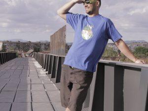 """Мъжка тениска """"A Cup Of Nature"""" – 100% памук, синя"""