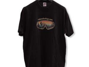 """Мъжка тениска """"Born To Downhill"""" – 100% памук, черна"""