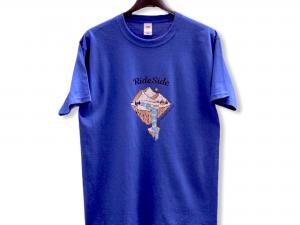 """Мъжка тениска """"Camping World"""" – 100% памук, синя"""