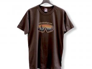 """Мъжка тениска """"Born To Downhill"""" – 100% памук, тъмно сива"""