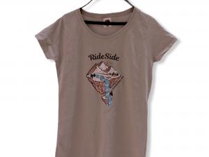 """Дамска тениска """"Camping World"""" – 100% памук, сива"""