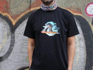 Мъжка тениска 'Сноубордист' черна