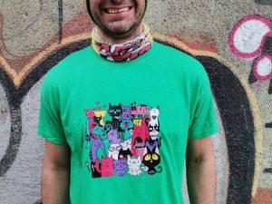 Мъжка тениска 'Котки'